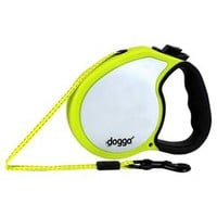 doggo Reflective Neon Retractable Leash with Leash Light