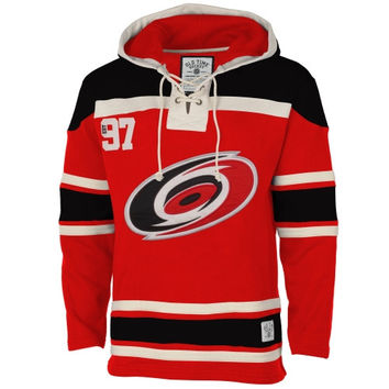 Carolina Hurricanes Old Time Hockey Home Lace Heavyweight Hoodie – Red