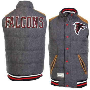 Atlanta Falcons Legacy Puffer Reversible Vest – Gray/Black