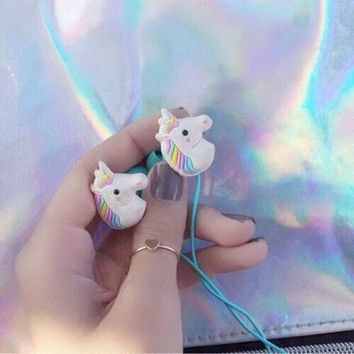 Creative Unicorn Headphone Earbuds