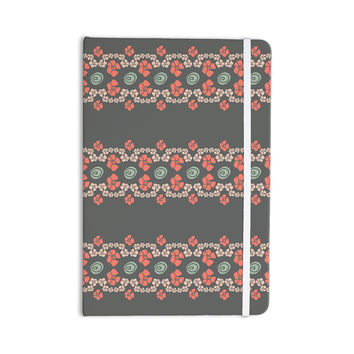 "Zara Martina Mansen ""Flora Formations"" Gray Coral Everything Notebook"