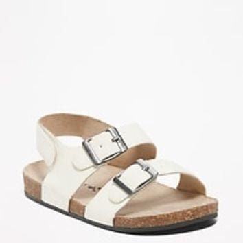 Sueded Double-Buckle Sandals for Baby|old-navy