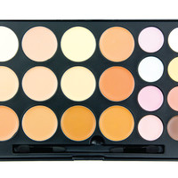 20CON - 20 Color Concealer/Contour Palette [20CON] - $16.95 : Professional Private Label Makeup Brushes, Brush Sets, and Cosmetics. | Crown Brush, Shop Crown Brush for professional, private label makeup brushes, cosmetic products, and makeup brush sets. Ou