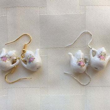 Porcelain Teapot Earrings