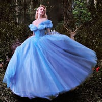 Cinderella Girl Dress Quinceanera Dress Ball Gown Party Dress Evening Dress