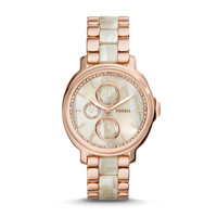 Chelsey Multifunction Stainless Steel and Acetate Watch – Two-Tone