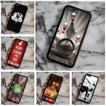 Bowling Ball Crashing Pins Phone Cases for Samsung galaxy S4 5 6 7 8 9 PLUS Note 4 5 7 8 Case Soft TPU Rubber Silicone