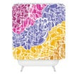 Karen Harris Fossil Warm Jewels Shower Curtain