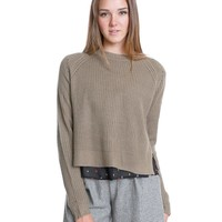 Everyday Life Knit Crop Top - Mocha