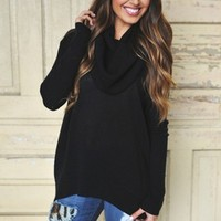 Cowl Sweater- Black