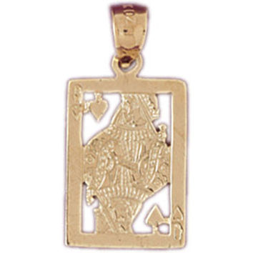 14K GOLD GAMBLING CHARM - PLAYING CARD #5442