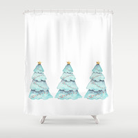 christmas tree Shower Curtain by Sylvia Cook Photography