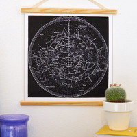 Astronomy Pull Down Chart Reproduction. Vintage Science Plate Print - CP700CV