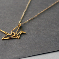 Lucky Origami Crane Necklace - Wild Thing Studio