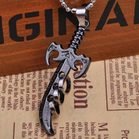 Jewelry New Arrival Stylish Shiny Gift Titanium Lock Korean Strong Character Blade Knife Pendant Colourfast Accessory Necklace [6542508995]