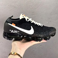 OFF-WHITE x Nike Air Vapor Max 2.0 Fashion New Hook Men Sports Leisure Shoes Black