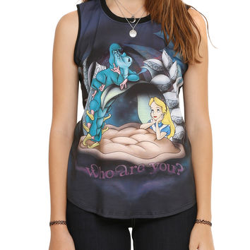 Disney Alice In Wonderland Who Are You Girls Muscle Top