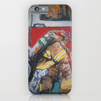 Praying Fire Fighter iPhone & iPod Case by Tony Silveira