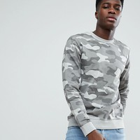 Only & Sons Camo Sweatshirt at asos.com