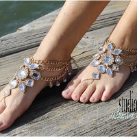 gold barefoot sandals | GYPSY SOLE barefoot sandals | bohemian | festival fashion