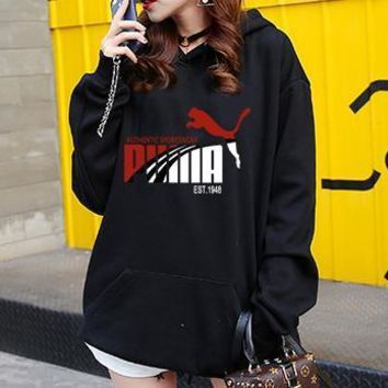 One-nice™ Puma Women Top Sweater Pullover Hoodie