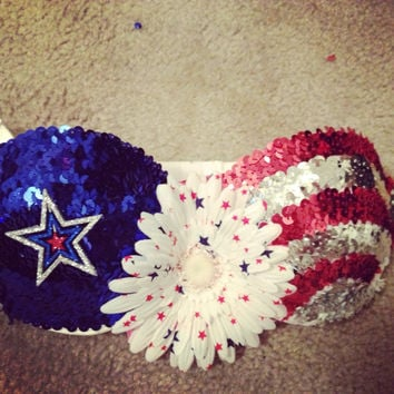 Patriotic Sequin Rave Bra