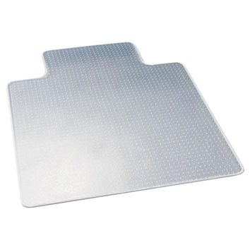 """Deflecto Chair Mat With Lip For Carpets (45"""" X 53"""", Low Pile)"""