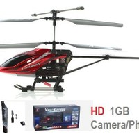 Versa 3.5 CH w/Gyro - HD Video/Photo Camera RC Helicopter w/1GB Micro SD Card - Enhanced Flexible None Breakable Blades - Medium