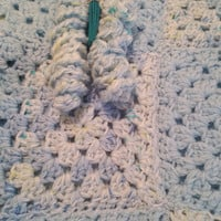 Blanket crochet handmade blue Baby Boys pram blanket bedding car seat cover l36 w30 ins.Perfect gift free uk delivery