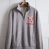 Tailgate Men's Wisconsin Half-Zip Fleece Popover, Gray Heather