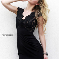 Sherri Hill 32006 - Black Beaded Jersey Short Homecoming Dresses Online