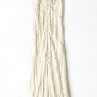 AEO Women's Lace Maxi Dress (Cream)