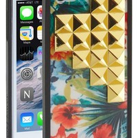 wildflower 'Floral Gold Studded Pyramid' iPhone 5 & 5s Case | Nordstrom