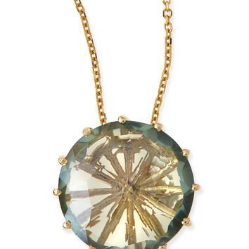 12mm Round Green Envy Topaz Pendant Necklace - KALAN by Suzanne Kalan