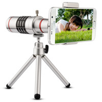 18x optical zoom mobile phone telephoto lens 18x Mobile phone lens with Tripod for iphone Clip Camera Lens Wide Angle phone lens