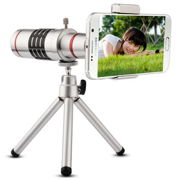 18x Mobile Phone Lens Universal 18X Zoom Telescope Camera Telephoto Lens for iPhone Zoom Telescope Magnifier Optical Lens 18X