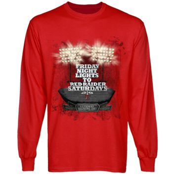 Texas Tech Red Raiders Scarlet National Signing Day All The Lights Long Sleeve T-shirt
