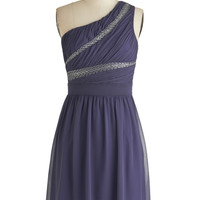 ModCloth Short One Shoulder A-line Scholarship Banquet Dress