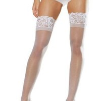 Dreamgirl Women's Plus Size Sheer Thigh High Socks