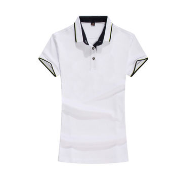 2017 Polo Shirt Women Summer Short Sleeve Red White Solid Color Polo Women Contrast Color Breathable Soft Cotton Polo Femme