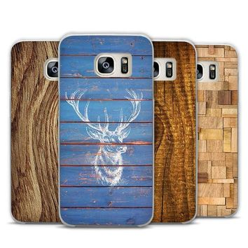 Wood Pattern Samsung Phone Case Cover