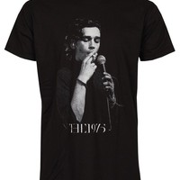 Lectro Matthew Healy T-Shirt The 1975 Music New Black Tee (S)