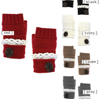 Fingerless gloves - Multiple Colors Available