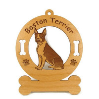 1922 Boston Terrier Sitting Personalized Wood by gclasergraphics