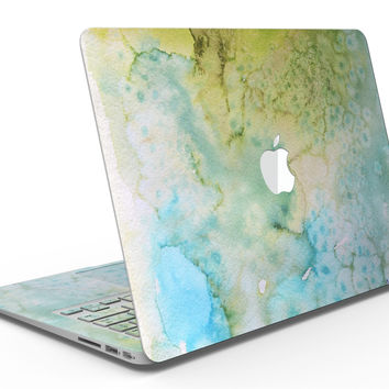 Yellow Green 197 Absorbed Watercolor Texture - MacBook Air Skin Kit