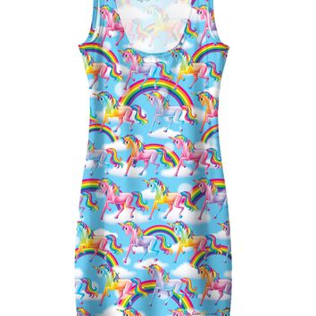 Lisa Frank Unicorn Rainbows Simple Dress *Ready to Ship*