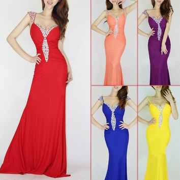 Women Mermaid Bridesmaid Formal Prom Dress Ball Gowns Party Long Evening Dress US 0 2 4 6 8 10 = 1945876356