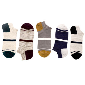 Barney's Ankle Sock Set [5 Socks.]