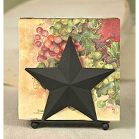 Set of 2 Napkin Caddy - Star