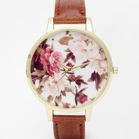 New Look Botanical Printed Dial Watch
